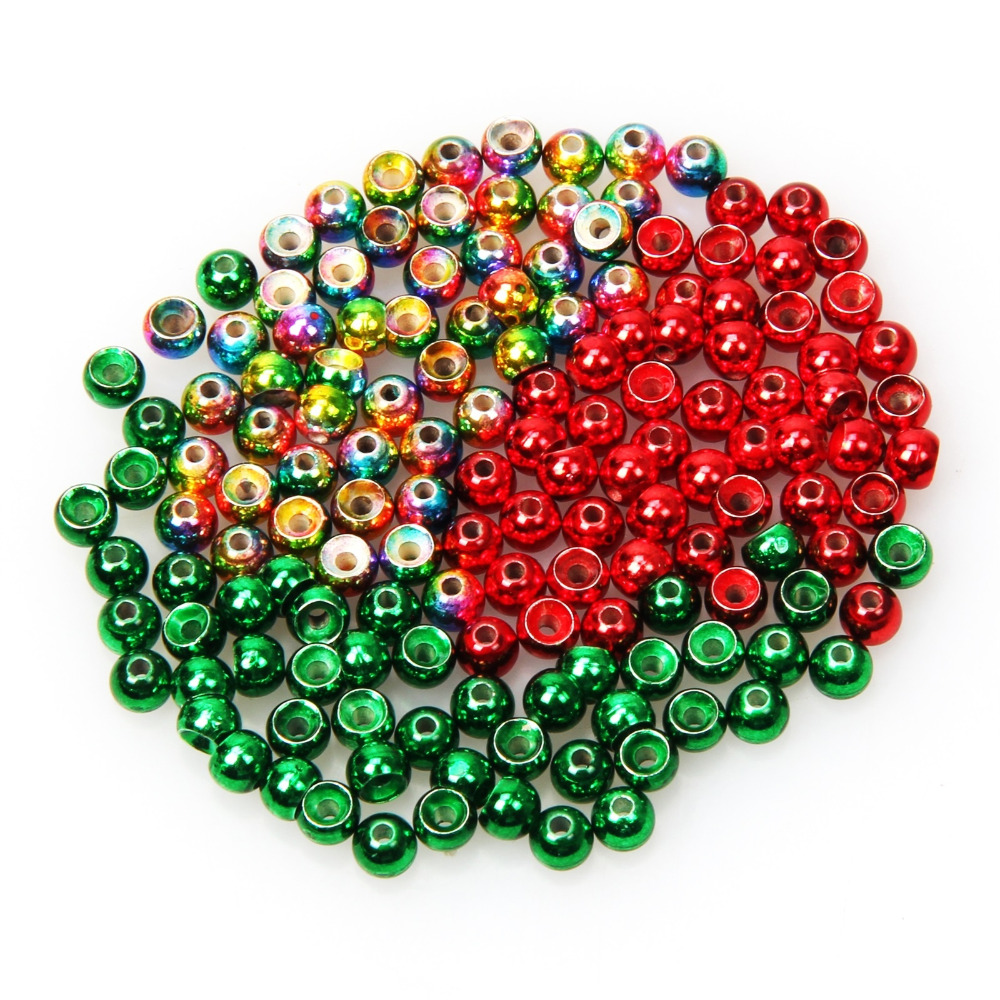 50pcs/lot Tungsten Fly Tying Beads Red Green Rainbow Fly Fishing Nymph Head Ball Beads самокат novatrack rainbow 120 red складной 120rainbow rd7