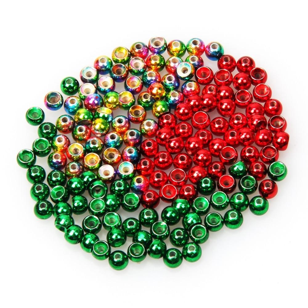 Angelsport-Artikel 1000 Rainbow Tungsten Fly Tying Beads Assorted Sizes A