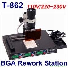 Autorizzato PUHUI T 862 IRDA SMD & BGA Stazione di Rilavorazione IR T 862 IRDA Saldatura Saldatore T862 A Raggi Infrarossi SMT Saldatore T 862