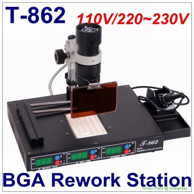 認可 PUHUI T 862 IRDA SMD & BGA IR リワークステーション T 862 IRDA はんだ溶接機 T862 赤外線 SMT 溶接機 T 862