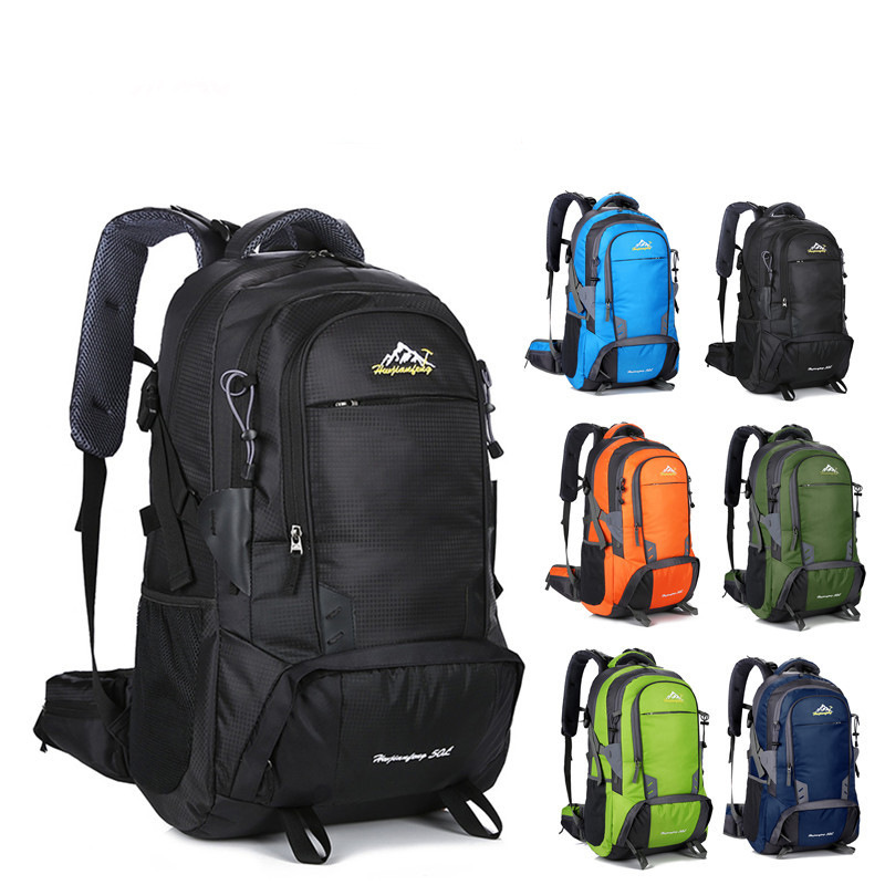 50L Men Backpacks For Teenage Large Capacity Rucksacks Waterproof Women Backpack Outdoor Camping Backpack Travel Bag outdoor 50l sports bag large capacity men travel bag mountaineering backpack hiking camping waterproof bag