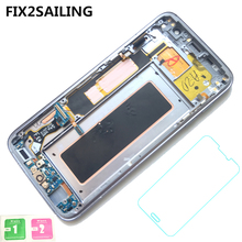 Neue Super AMOLED LCD Display 100% Getestet Arbeits Touchscreen Frame Assembly Für Samsung Galaxy S7 rand G935F G935FD G935W8