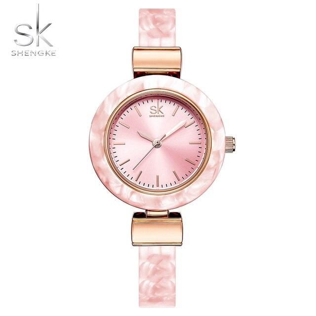Shengke браслет Для женщин Часы для Леди Мода платье Браслеты Очаровательная Сеть Стиль часы Для женщин кварцевые женское платье часы 2018