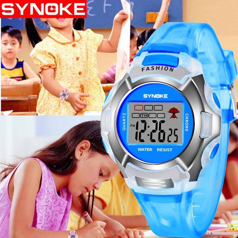 Kids Watches Digital Sport Popular Unisex Hot-Sale Fashion Student Candy Multicolor50