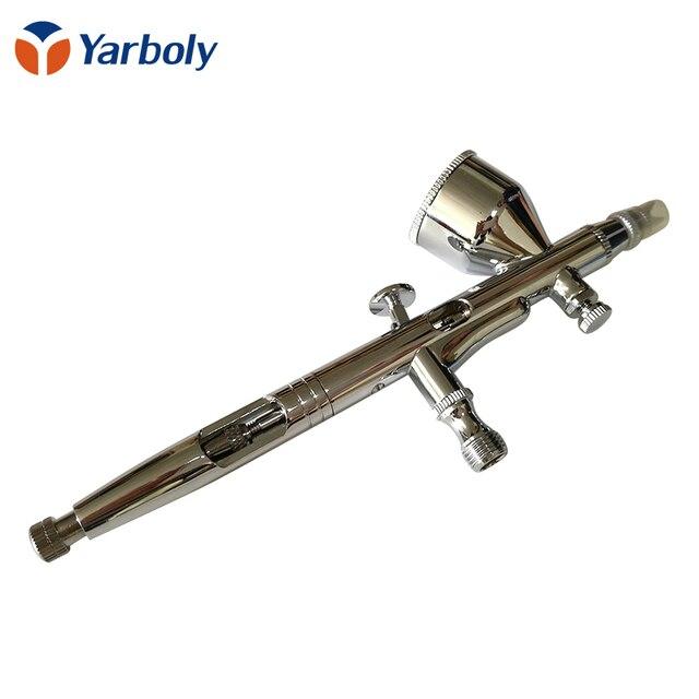 Pluma de aerógrafo de doble acción de 0,2mm, pistola pulverizadora, bolígrafo herramienta de maquillaje para arte de uñas, tatuajes corporales, espray, pastel, modelos de juguete
