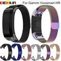 ממילאנו נירוסטה להקת שעון רצועה עם מחבר מגנטי לולאה החלפת ToolKit עבור Garmin Vivosmart HR זרוק חינם
