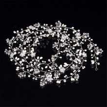 Pearl Crystal Wedding Hair Vine Crystal Bridal Accessories Diamante Headband New
