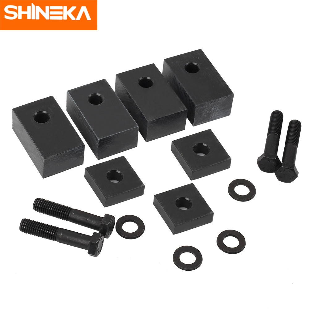 SHINEKA Rear Seat Recline Kit For Jeep Wrangler JK JL4 Door 2007-2018 Delrin Mount Bolts Washers Set SUV Back Seat Spare Parts