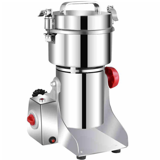 700g Powder Grinding Machine Grains Spices Hebals Cereals Coffee Dry Food Grinder Mill Gristmill Home  Flour Powder Crusher vibration type pneumatic sanding machine rectangle grinding machine sand vibration machine polishing machine 70x100mm