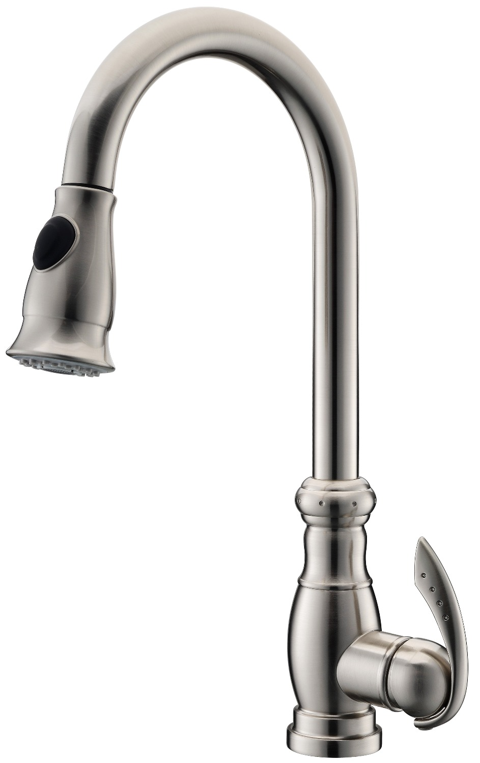Free ship brushed nickel clour pull out kitchen spray faucet mixer tap Single hole Deck mounted
