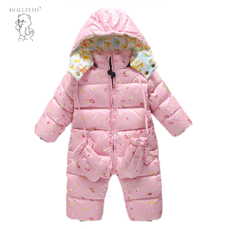 Warm baby romper girls Snowsuit Duck down baby winter romper hoodies Newborn overalls winter clothes kids boys children jumpsuit