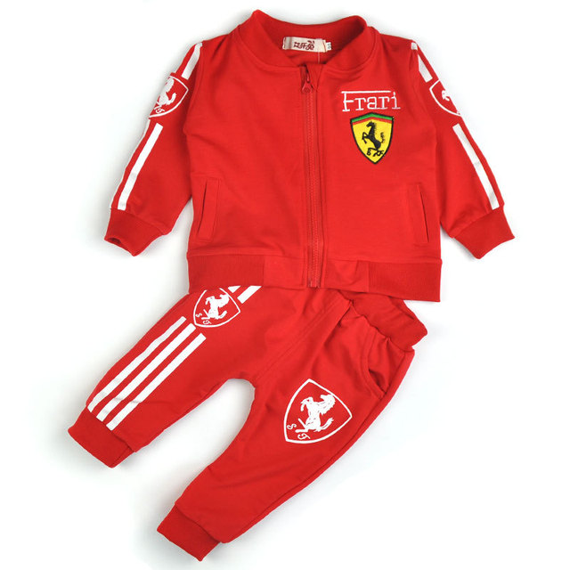 2016 New 4 color 2-5 Years Baby Girls Suits Sports Children's Clothing Sets Baby Boys Spring Suit Set Baby Girl Long Sleeve Sets