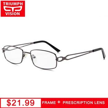 TRIUMPH VISION Women Reading Glasses Oval Prescription Computer Eyeglasses Female Metal Oculos De Grau Clear Myopia Spectacles фото