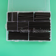 312pcs/set Heat Shrink Tubing Insulation Shrinkable Tube Assortment Electronic Polyolefin Ratio 2:1 Wrap Wire Cable Sleeve Kit