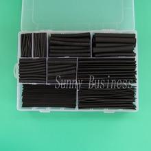 Unids/set 312 aislamiento de tubos termorretráctiles surtido de tubos retráctiles relación de poliolefina electrónica 2:1 Kit de envoltura de alambre Kit de fundas de Cable