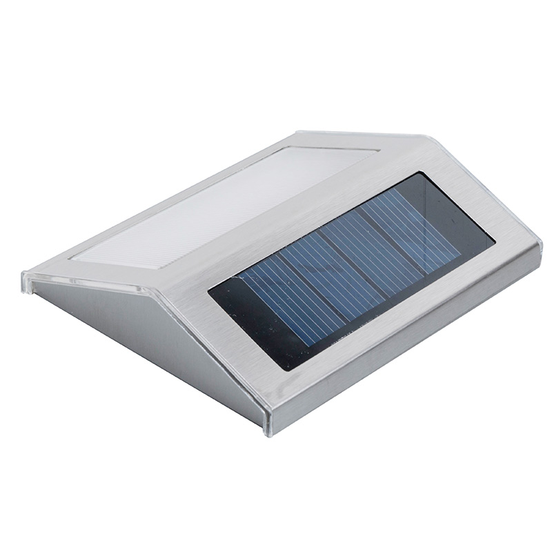 3LED Solar Lamp Waterproof Auto Sensor Panel Outdoor Wall Rechargeable Road Stairs Pathway Fence Stainless Lamp Garden
