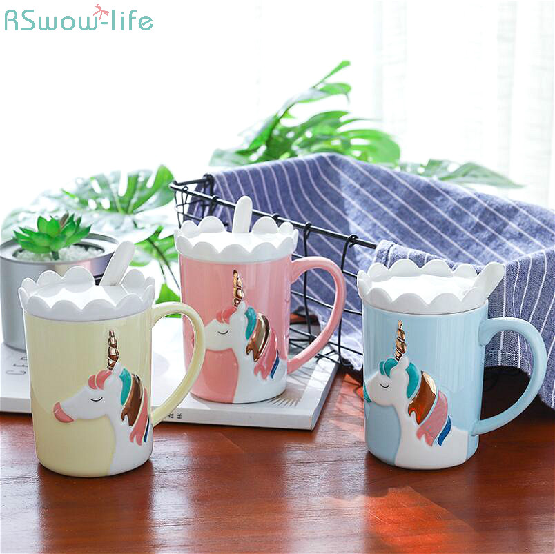 Creative Ceramic Cup Unicorn Drinking Office Household Coffee Milk Tea Festival Party Gift