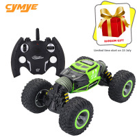 Cymye RC Car 4WD Double sided 2.4GHz One Key Transformation All terrain Vehicle Varanid Climbing Car Remote Control Truck