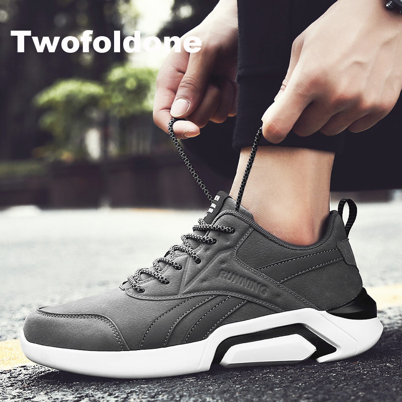 Aliexpress.com : Buy Men Sneakers Leather Running shoes ...
