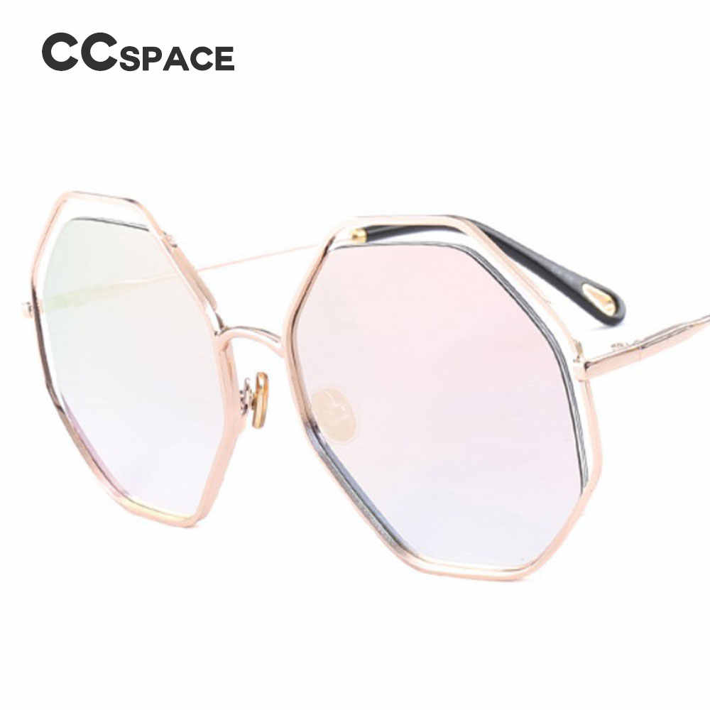 87fc391b19 ... CCSPACE Metal Leopard Frame Polygon Sunglasses Men Women Octagon Brand  Glasses Designer Fashion Male Female Shades ...