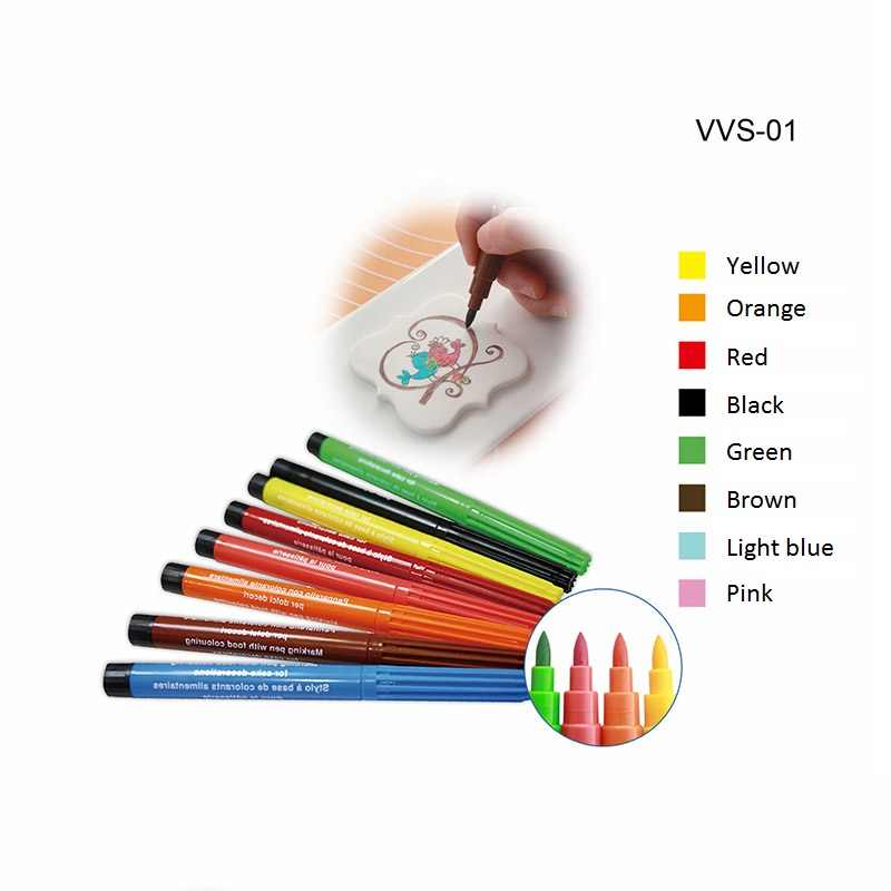 1 set Colorful Food Color Pen Edible Pigment Pens Dye Agent Colorings Paste  Cake Dessert DIY For Drawing Cake Decorating Tools
