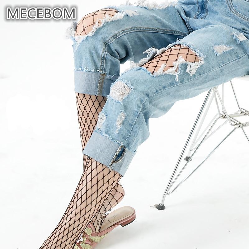 Buy Fashion Black Fishnet Tights Female Sexy Mesh Pantyhose Women Nylon Stockings Thigh High Stocking Club Party Hosiery