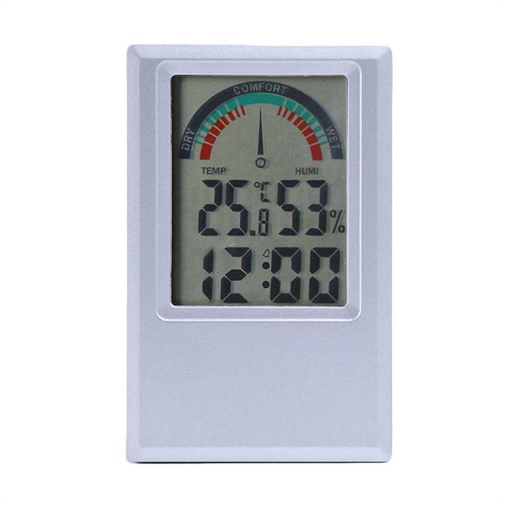 Digital Thermometer Hygrometer Temperature Humidity Meter Alarm Clock Max Min Value Comfort Level Display digital thermometer hygrometer temperature humidity meter alarm clock max min value comfort level display