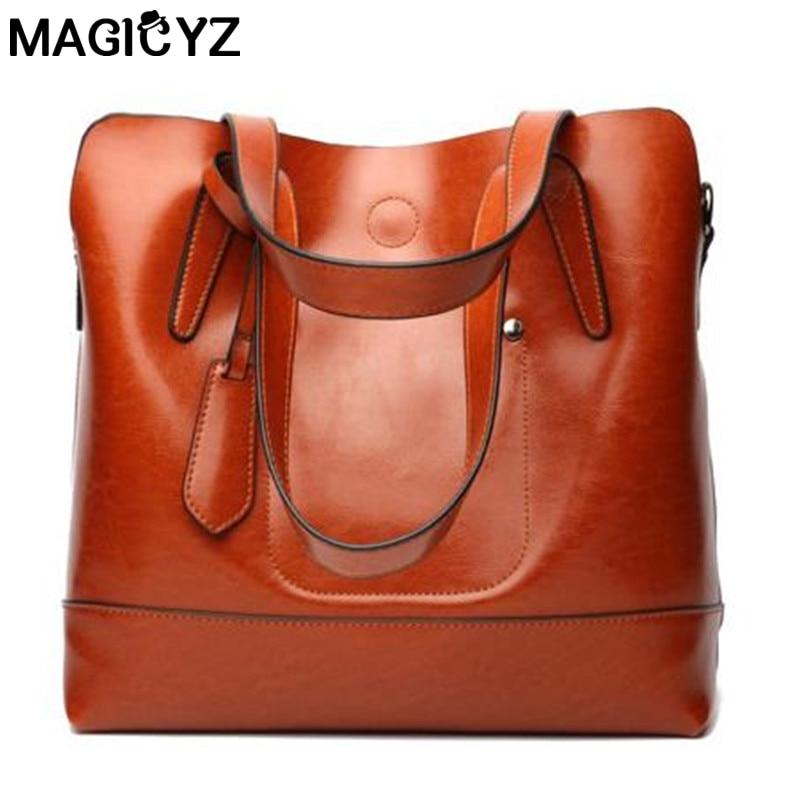High Quality Women genuine Leather bags 2018 Vintage double Sling Messenger Shoulder Bag Designer Luxury Brand ladies hand bags