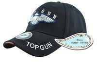 Top Gun Fashion Sport Baseball Peaked Caps Hat Outdoor Travel Sun Bike Hat Black Tan