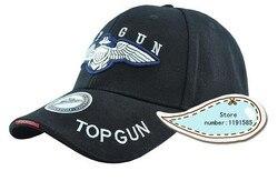 Top Gun Sport Baseball Schirmmützen Hut Im Freien Reise Sonne Reiten Mountainbike Hut schwarz/tan