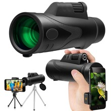 Adult and Children Monocular 12x50 Zoom Vision Hunting Telescope HD Mini Professional telescopic mirror Opera Turizm Spyglass