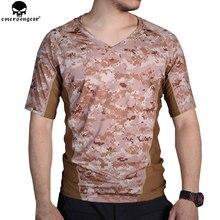 EMERSONGEAR тактическая камуфляжная футболка охотничья камуфляжная Беговая плотная Базовая слойная камуфляжная футболка дышащая пота рубашка EM9167