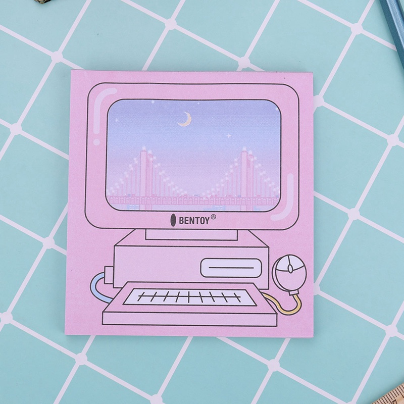 Creative Computer Game Machine Modeling Memo Pad Pink Sticky Notes Memo Notepad Gift Stationery