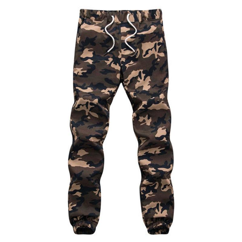 100% Coton Mens Jogger Automne Crayon Harem Pantalon 2018 Hommes Camouflage Militaire Pantalon Lâche Confortable Pantalon Cargo Camo Jogge