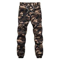 100% Cotone Mens Jogger Autunno Matita Pantaloni stile harem 2017 Uomini Camouflage Pantaloni Militari Allentati Comodi Pantaloni Cargo Camo Jogge