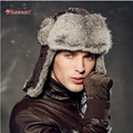 Kenmont Winter Men Outdoor Ski 100% Real Natural Rabbit Fur Trapper Aviator Russia Bomber Cap Hat 2162