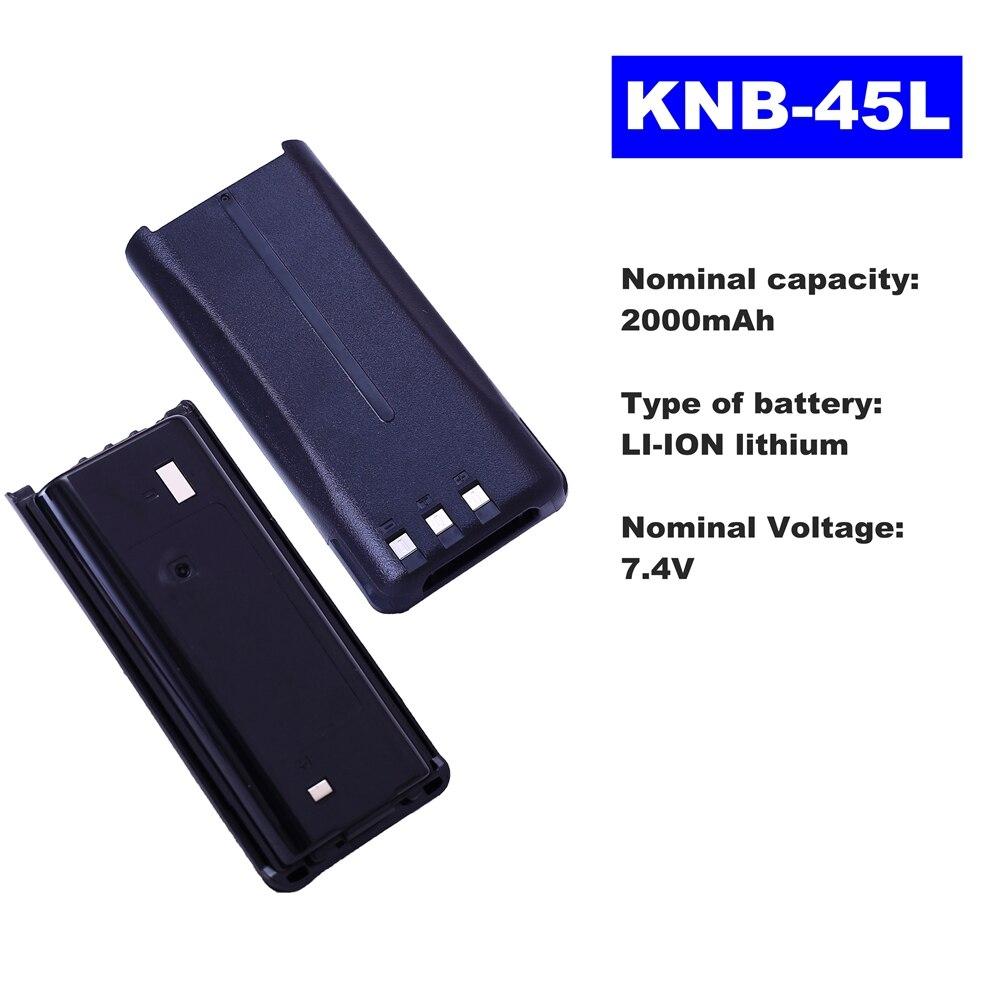7.4V 2000mAh LI-ION Radio Battery KNB-45L For Kenwood Walkie Talkie TK-2200/3203/3107 KWNX240/340 Two Way Radio