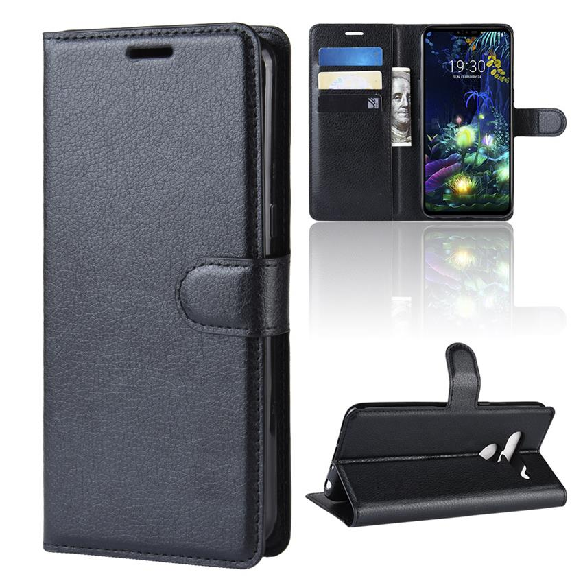 Buy Fundas For LG G8 ThinQ Case Magnetic Flip Wallet Leather Case For LG K40 LG V50 ThinQ 5G Screen Protector for LG K40 V50 ThinQ for only 1.68 USD