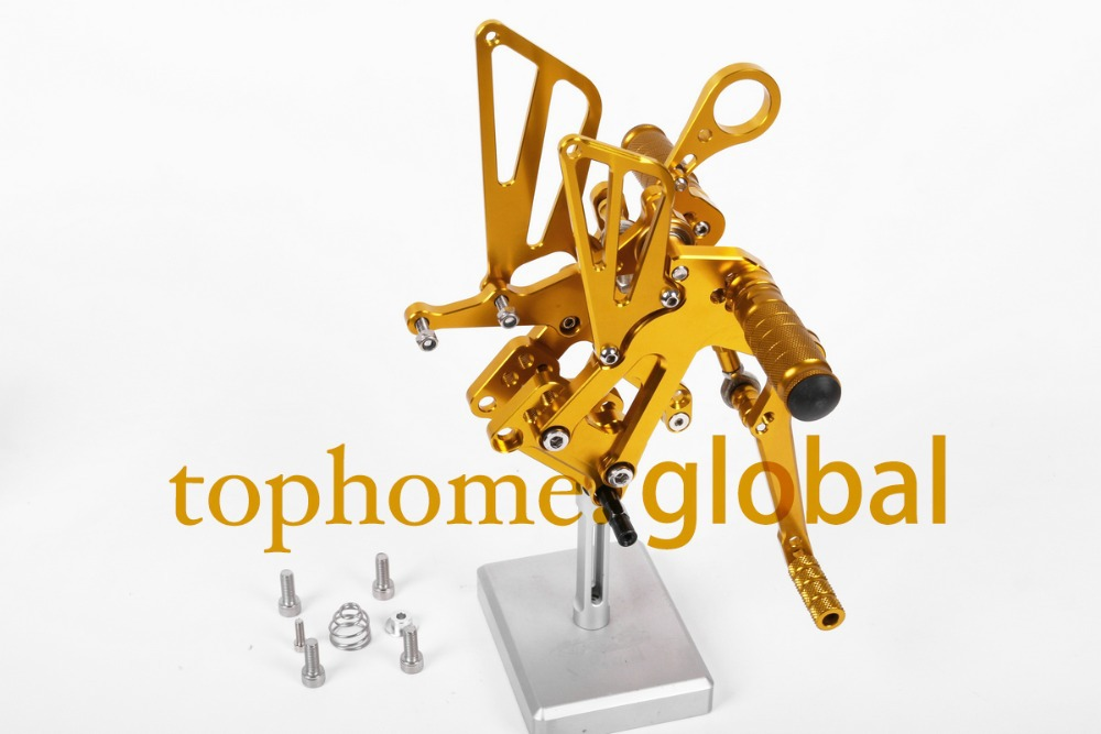 Free Shipping Motorcycle Parts Golden CNC Rearsets Foot Pegs Rear Set For BMW S1000RR 2010-2011 New