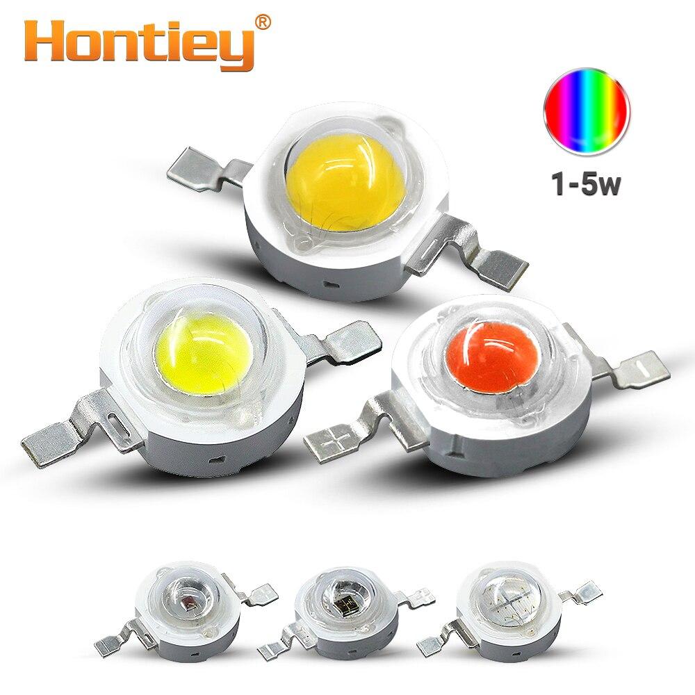 Hontiey LED Chips High Power 1W 3W 5W White Blue Green Yellow Red Pink Amber Cyan Orange 30mil 45mil Lamp Matrix Bulb Light DIY