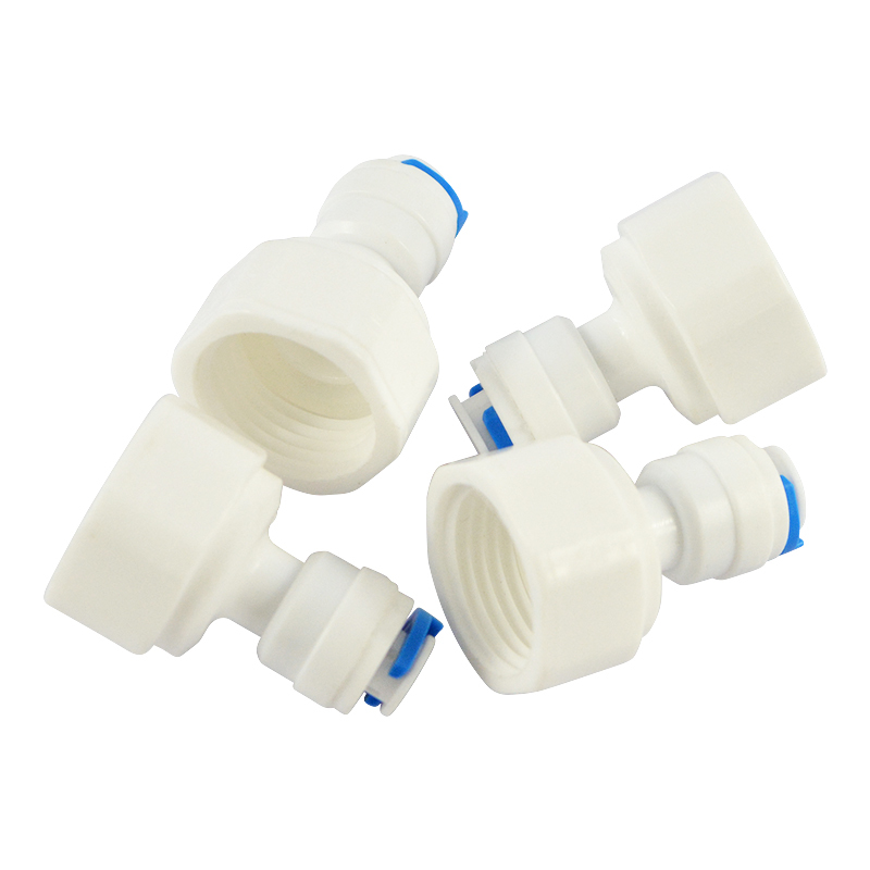 2pcs Elbow Quick Connect 1/2 BSP to 1/4 Inch Push Fit Qick Connect Reverse Osmosis Water Filter Pipe Fitting Water Purifier Part water filter tap connector adaptor push fit 3 4 inch bsp to 1 4 inch reverse osmosis ro white watering fitting pipe