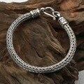 Ручной таиланд 925 Siilver браслет старинных серебро удачи браслет из чистого серебра долголетие