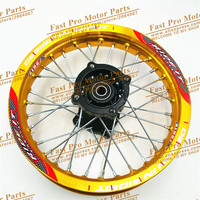 Pit Bike Rims 1.85x12inch Racing dirt bike rim for KTM CRF Kayo BSE Apollo 12inch Rear Wheels spare parts fit 80/100 12 Tyre