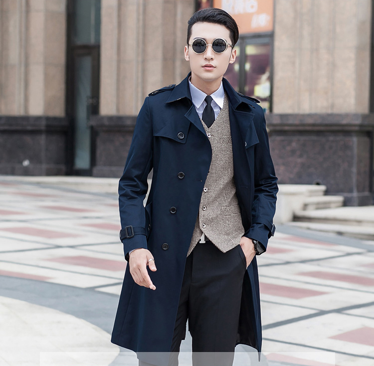 Trend Mark Men's Coat Trench Outerwear Slim Double Breasted Autumn Commercial Coat Very Large Medium-long Plus Size S-5xl 6xl 7xl 8xl 9xl Latest Technology