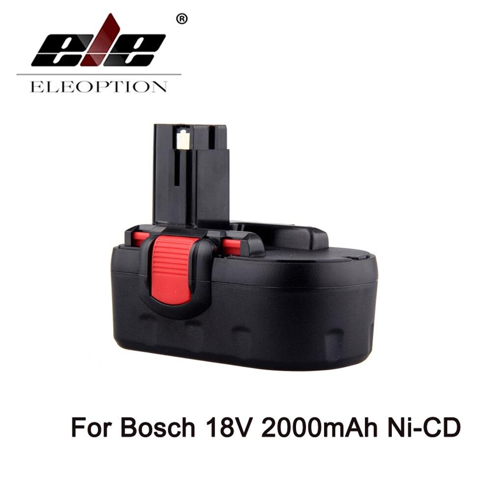 ELEOPTION 2000mAH 18V 2.0Ah Rechargeable Power Tool Battery for Bosch BAT180 BAT181 BAT025 BAT026 BAT160 BAT189
