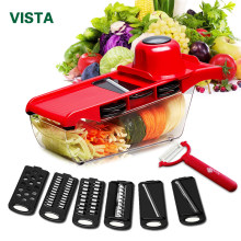 Myvit Vegetable Cutter with Steel Blade Mandoline Slicer Potato Peeler Carrot Cheese Grater vegetable slicer Kitchen Accessories(China)