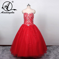 Jasmine Hot Pink/Red Sweet 16 Gown with Beading Sweetheart Off Shoulder Girls Vestidos Tulle Ball Gown Quinceanera Dresses 2018