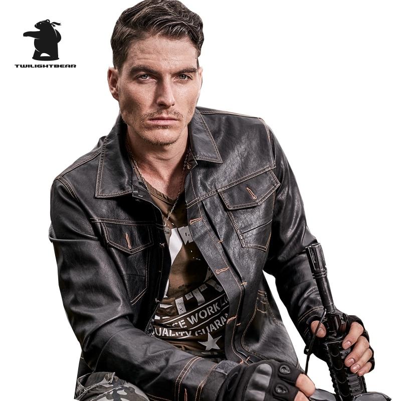 Winter New Mens Leather Jacket Designer Fashion Multi-pocket Fleece Thicken Leather Bomber Jacket Coat Men M~3XL BF888