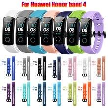 Модные Классические силиконовые часы, браслет, ремешок, спортивные Смарт-часы, ремешок, фитнес-трекер для huawei Honor Band 4