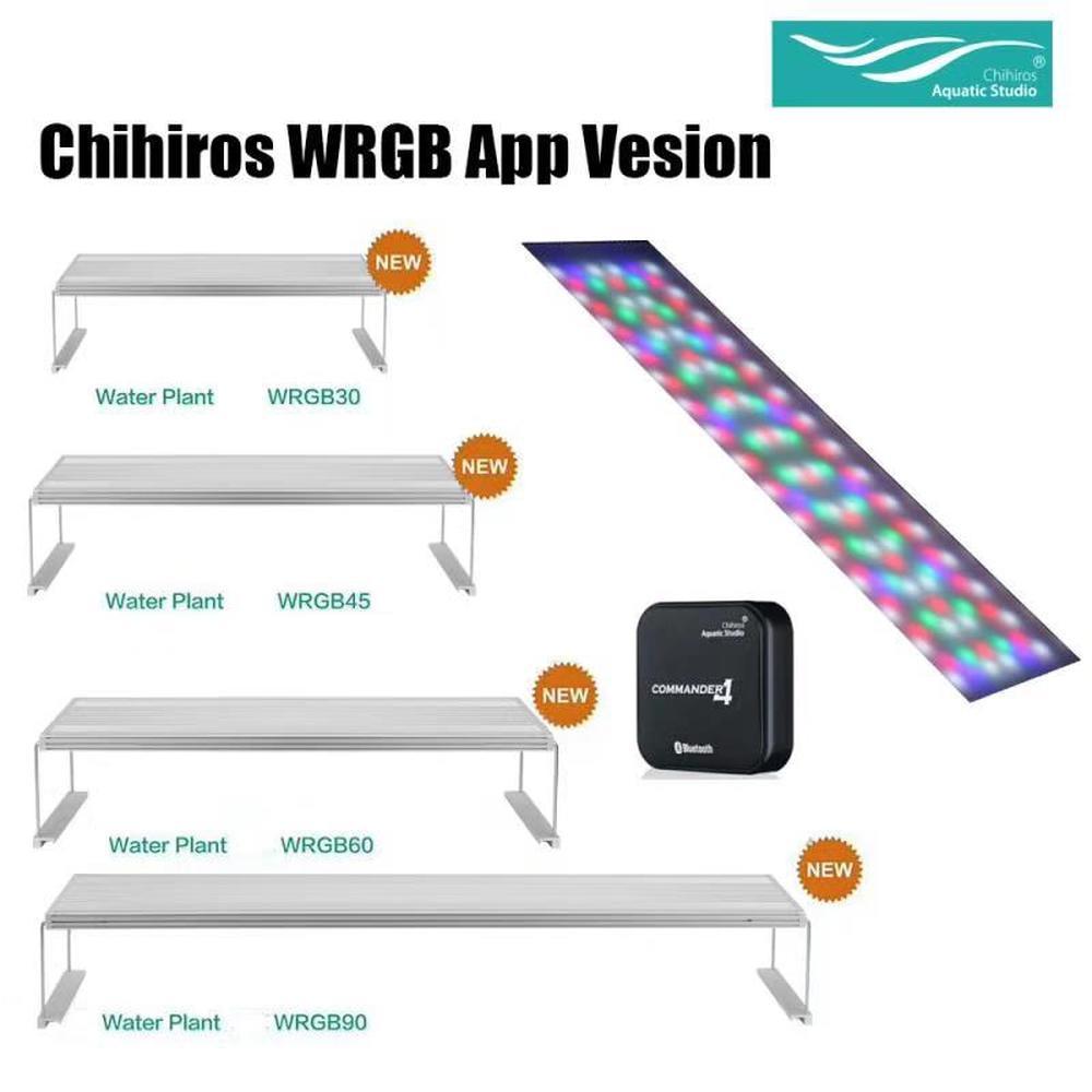 Chihiros WRGB série plein spectre eau plantes poussent LED lumières ADA Style lever du soleil coucher de soleil App contrôle LED Aquarium éclairage hotte